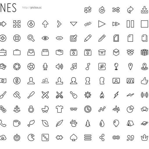 Pictos Outlines Icon Set