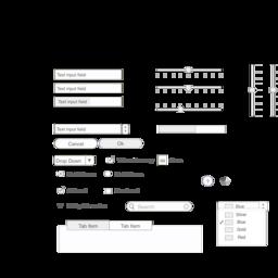 Mac OS X Wireframe Stencil