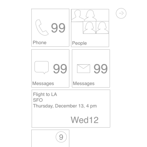 Windows Phone Wireframe Stencil