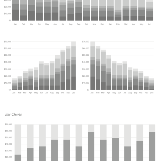 Charts and Graphs - Grayscale
