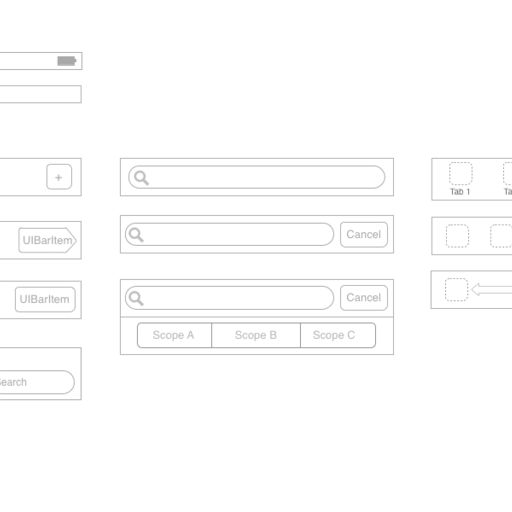 iOS Wireframe iPad