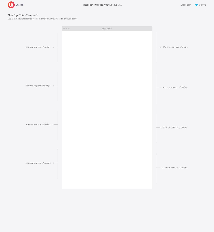 Responsive Website Wireframe Kit | Graffletopia