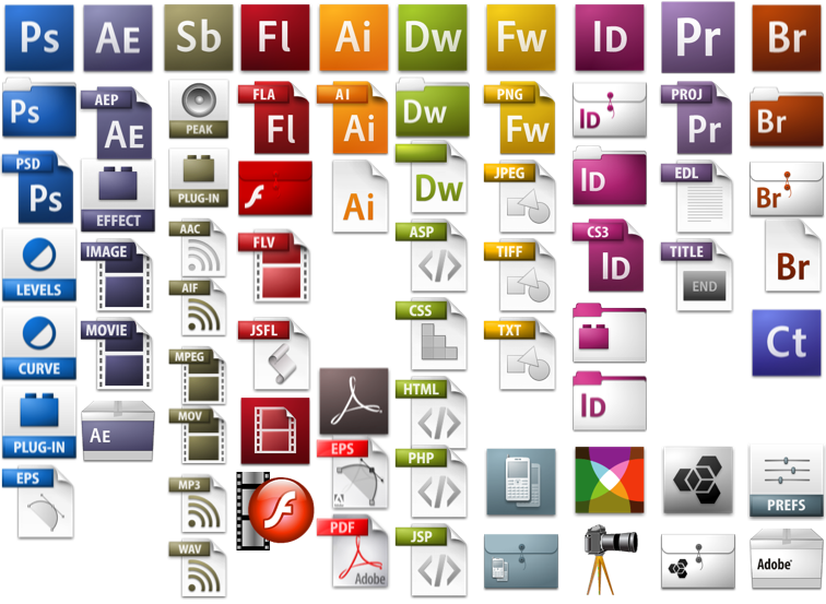 adobe cs3 icons graffletopia