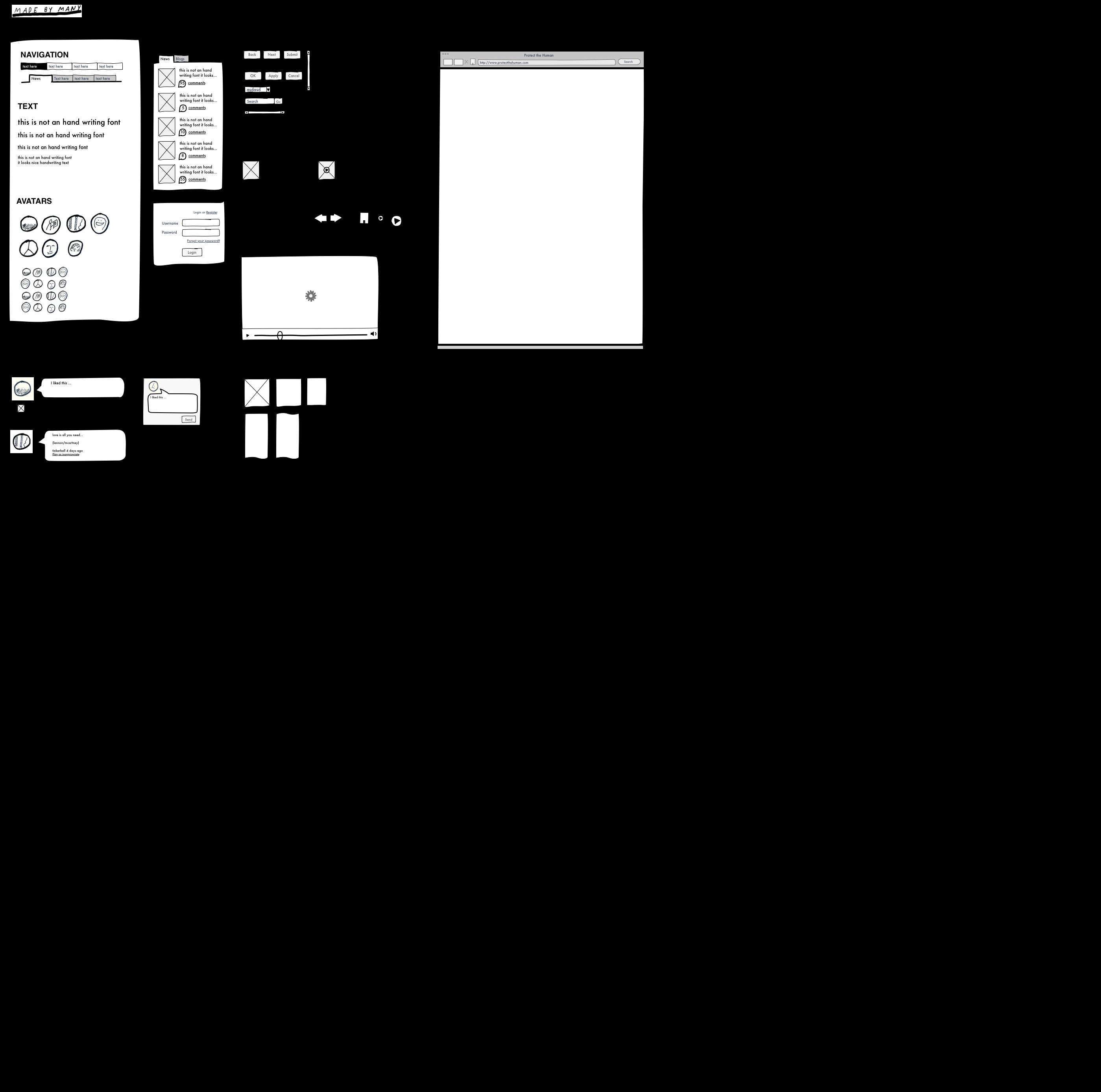 Sketch Wireframe Graffletopia
