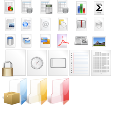 Pretty Document and Folder Icons