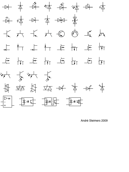 Active Sensor Schematic Symbol Circuit Diagram Symbols