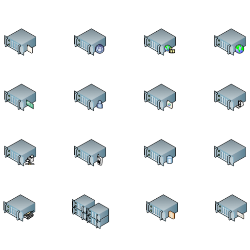 Rack Mounted Servers (isometric)