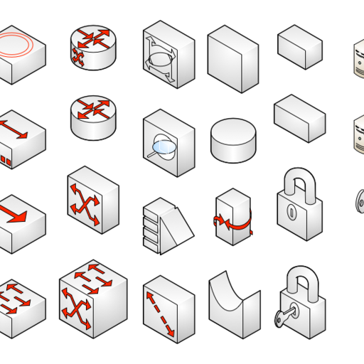 Network Symbols (isometric)