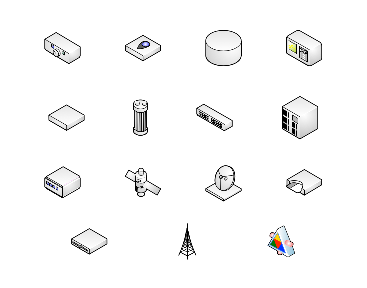 isometric visio network diagram