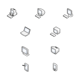 Computers and Monitors (isometric)
