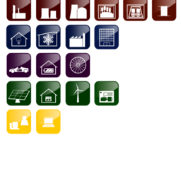 Smart Grid Function Blocks Icons