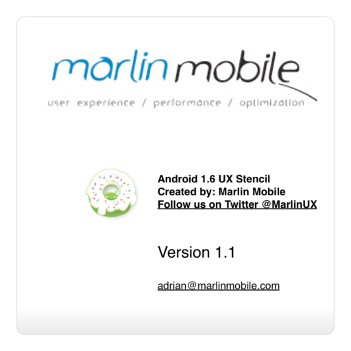 Google Android 1.6 Wireframe stencil for Omnigraffle