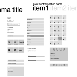 Windows Phone 7 Wireframe v1.0