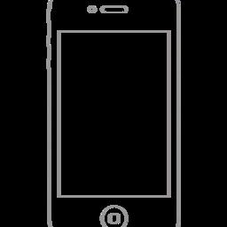 iPhone 4 Wireframe Stencil