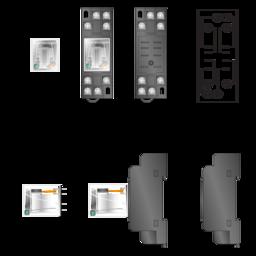 ADC-QM2N1-D24 Relay & SQL08D Socket