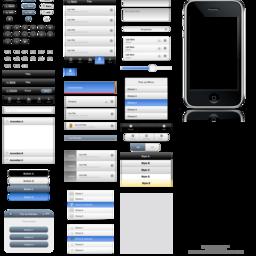 jQuery Mobile UI Elements OmniGraffle Stencil