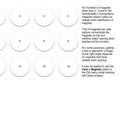 Radially spaced magnets