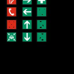 Symbole für Flucht- und Rettungsplan / escape plan