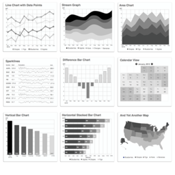 Grayscale Charts and Graphs